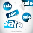 Collection of blue sale stickers — Stock Photo