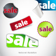 Collection of  sale stickers — Stock Photo