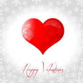 Red vector Valentines stickers — Stock Photo