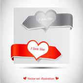 Valentine's sticker — 图库照片