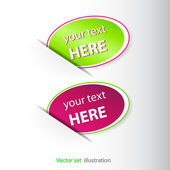 Set of color stickers for web page — Stock Photo