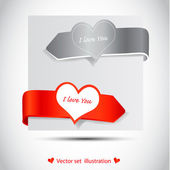 Valentines Day type text with heart — Stock Vector