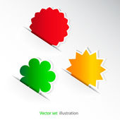 Set of color stickers — Stock Vector