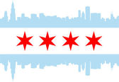Chicago flag — Stok Vektör