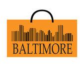 Baltimore shopping — Stock Vector