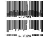 Las Vegas Barcode — Stock Vector