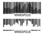 Minneapoli barcode — Stock Vector