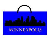 Minneapolis shopping — Stock Vector