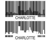 Charlotte barcode — Stock Vector