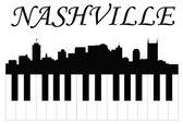 Nashville hudba — Stock vektor