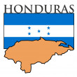 Honduras — Stock Vector
