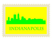 Indianapolis stamp — Stock Vector