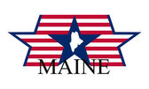 Maine sign — Stock Vector