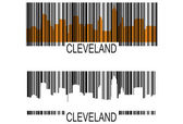 Cleveland barcode — Stock Vector