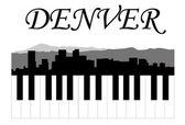Denver music — Stock Vector