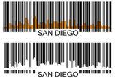 San Diego barcode — Stock Vector