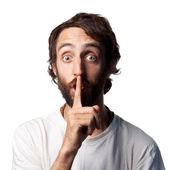 Shh be quiet! — Stock Photo