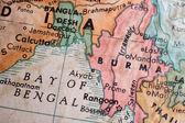 Bay of Bengal burma map — Stock Photo