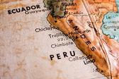 Peru and Ecuador map — Photo