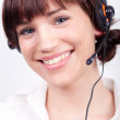 Portrait of a nice customer support employee / secretary — Stock Photo