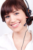 Portrait of a nice customer support employee / secretary — Photo