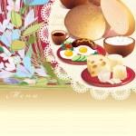 Village Breakfast Menu — Stock Photo