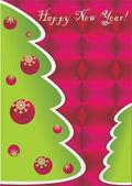 Cartão de feliz ano novo — Foto Stock