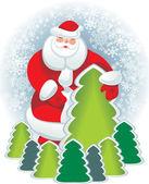 Santa postel card — Stock Photo