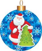 Santa postel karty — Zdjęcie stockowe
