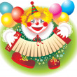 Cheerful clown — Stock Photo