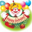 Cheerful clown - Foto Stock