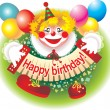Cheerful clown - Stockfoto