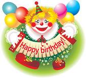 Cheerful clown — Stock Photo