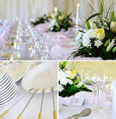 Decorative placemats on the table - banquet — Stock Photo
