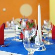 Decorative placemats on the table - events — Stock Photo