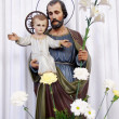 Saint Joseph with little Jesus — Stock Photo #8032306