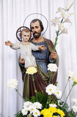 Saint Joseph with little Jesus — Stock Photo