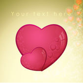 Heart, valentines day card - vector — Vector de stock