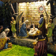 Bethlehem Christmas - wooden carved — Stock Photo