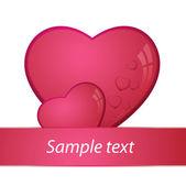 Corazón, día de san valentín tarjeta - vector — Vector de stock