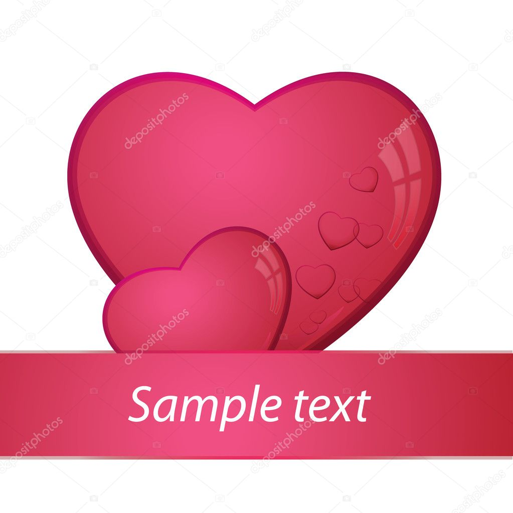 Heart, valentines day card -  vector illustration — Imagen vectorial #8326073
