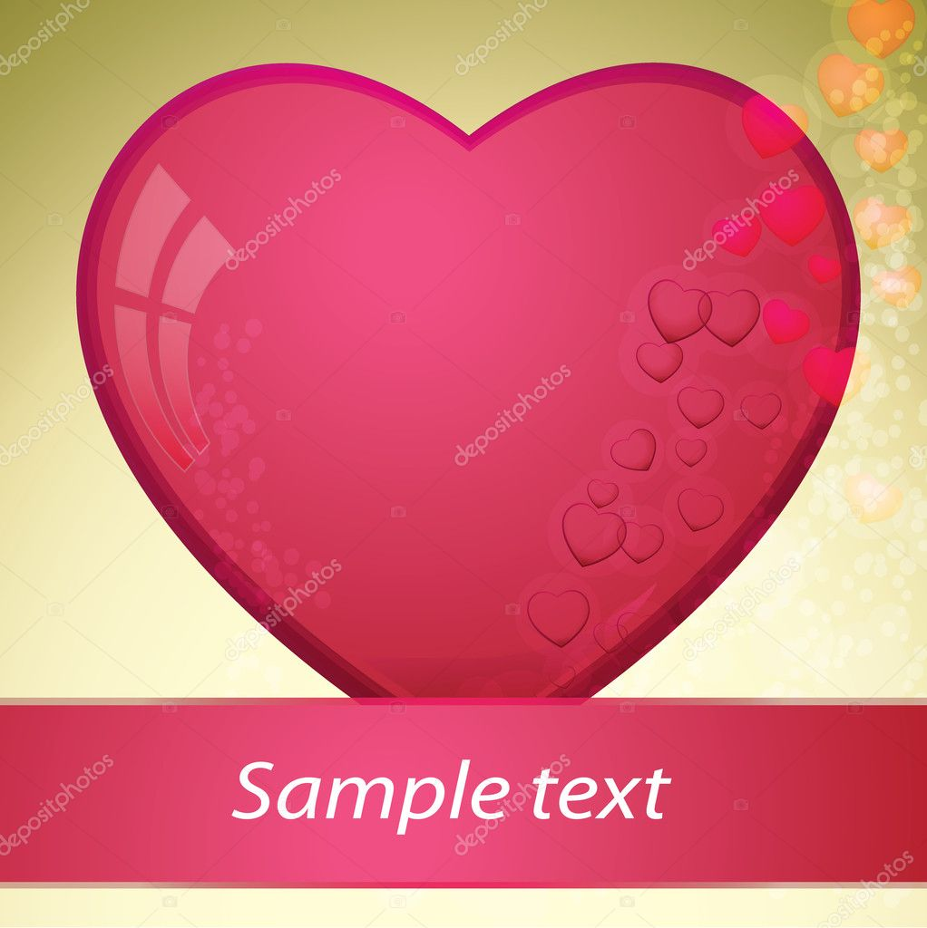 Heart, valentines day - vector illustration — Vettoriali Stock  #8326087