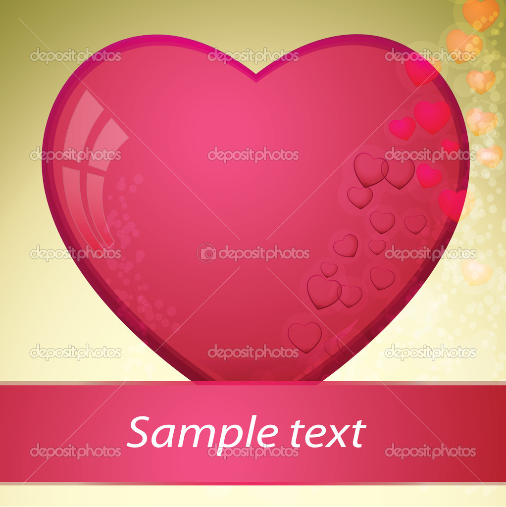 Heart, valentines day - vector illustration — Stock vektor #8326087