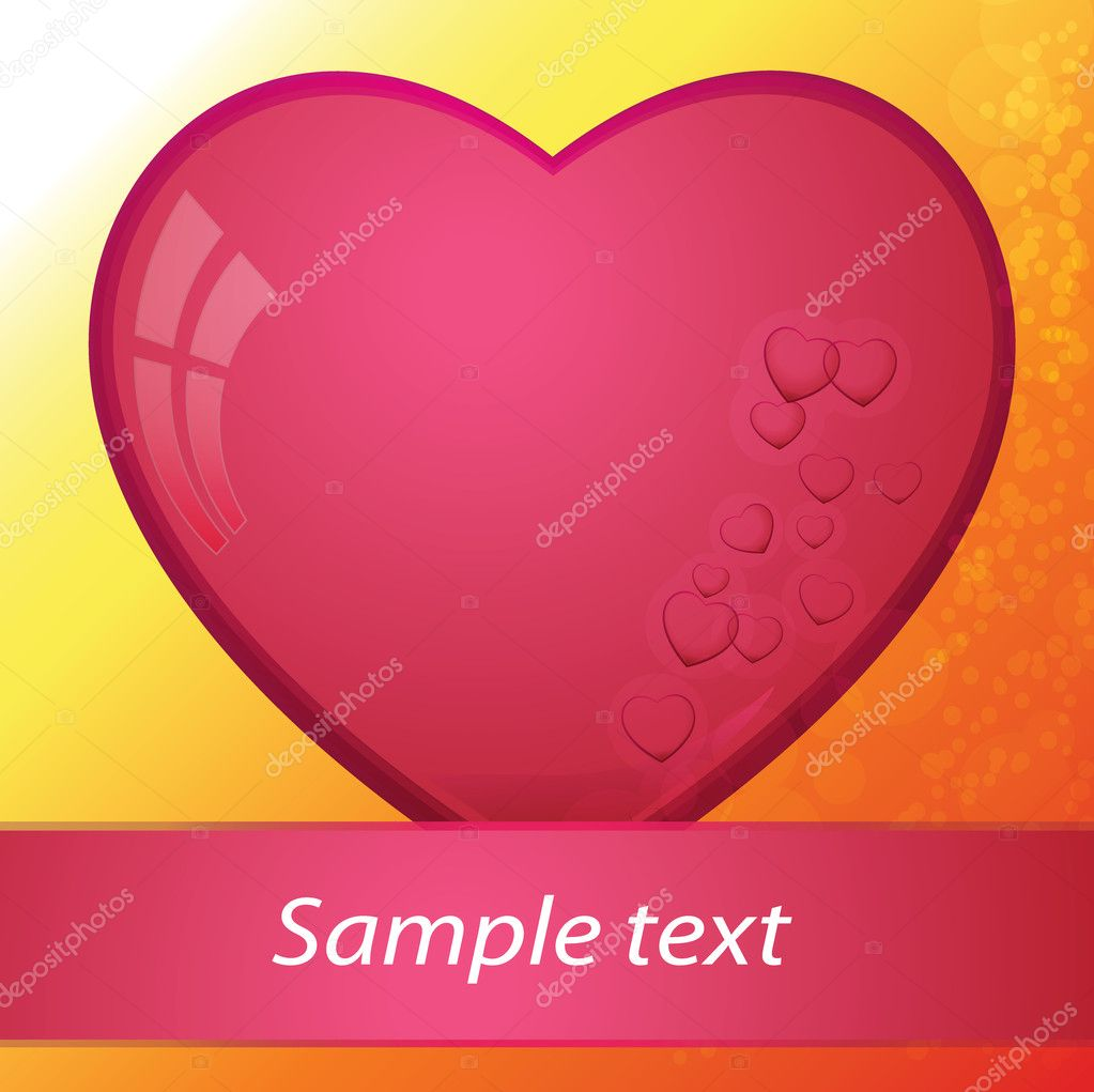 Heart, valentines day - vector illustration — Stok Vektör #8326101