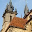 Tyn Church in Old Town Square in Prague — Stock Photo #8659746