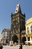 Prague. Powder gate - Prasna Brana — Stock Photo