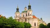 церковь святого николая в праге, чешская республика — Стоковое фото