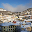 Banska Stiavnica in winter, Slovakia UNESCO — Stock Photo