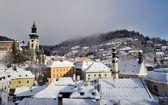 Banska Stiavnica im Winter, Slowakei-unesco — Stockfoto