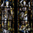 Holy Trinity Church, Stratford - upon-Avon stained glass windows — Stock Photo